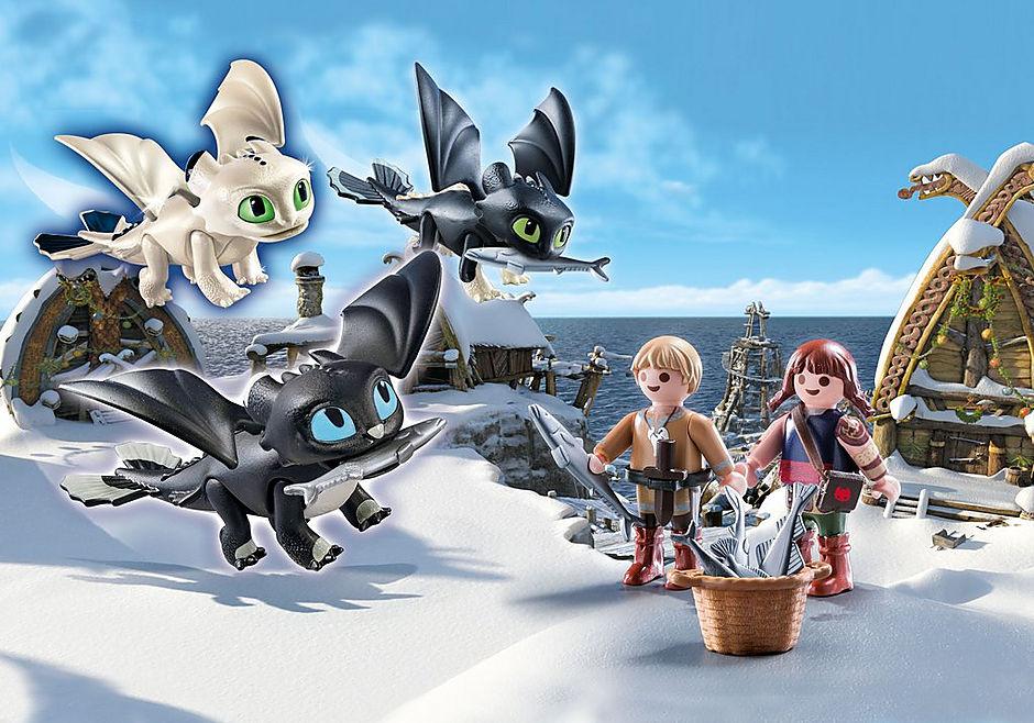 70457 Crianças Viking com bebés dragão detail image 1