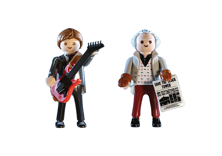 70459 Back to the Future Marty McFly i Dr. Emmett Brown detail image 3