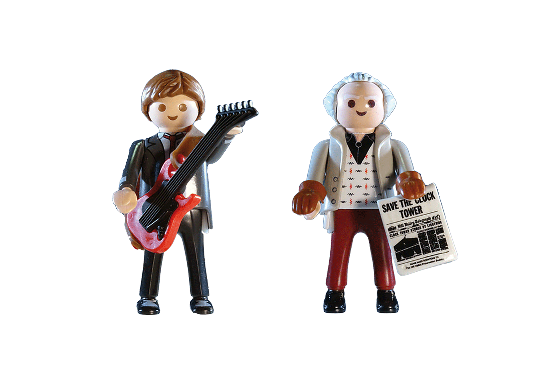 70459 Back to the Future Marty McFly och Dr Emmett Brown zoom image3