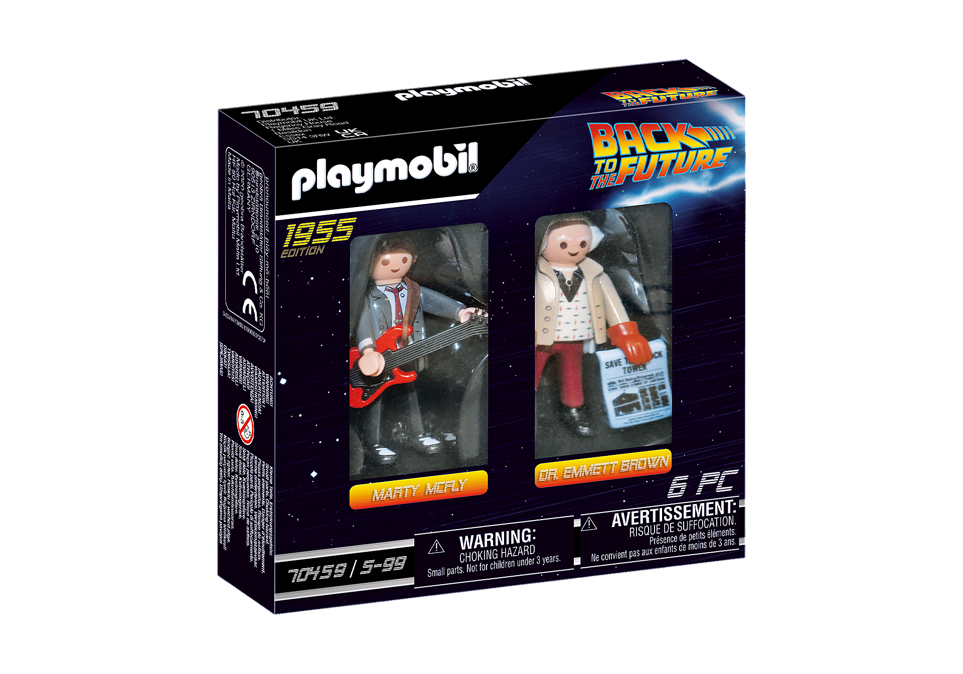 70459 Back to the Future Marty McFly och Dr Emmett Brown zoom image2