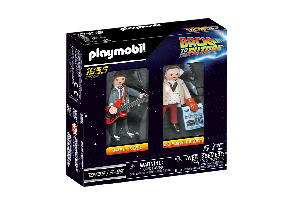 70459 Back to the Future Marty Mcfly et Dr. Emmett Brown detail image 2