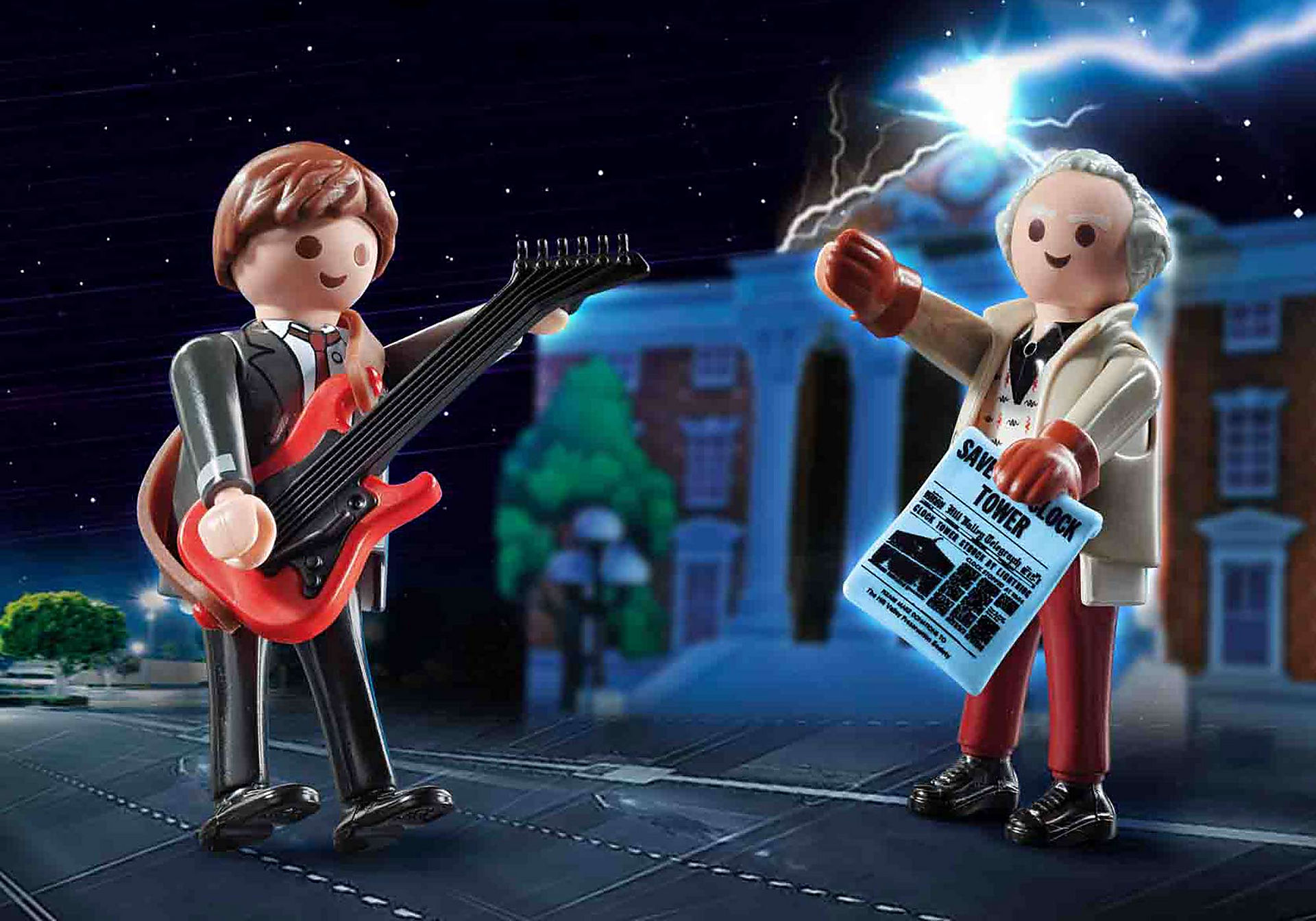 70459 Back to the Future Marty Mcfly and Dr. Emmett Brown zoom image1