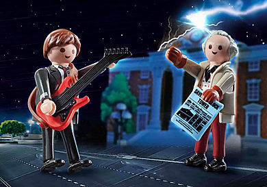 70459 Back to the Future Marty Mcfly et Dr. Emmett Brown