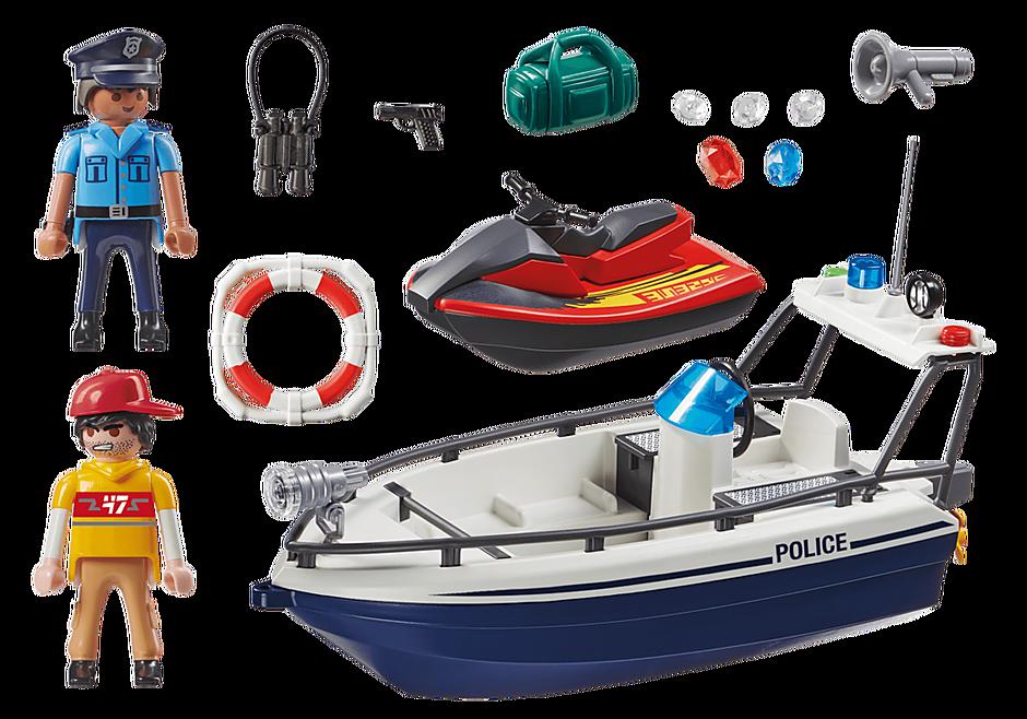 70463 Guardacostas y Ladrón en moto de agua detail image 3