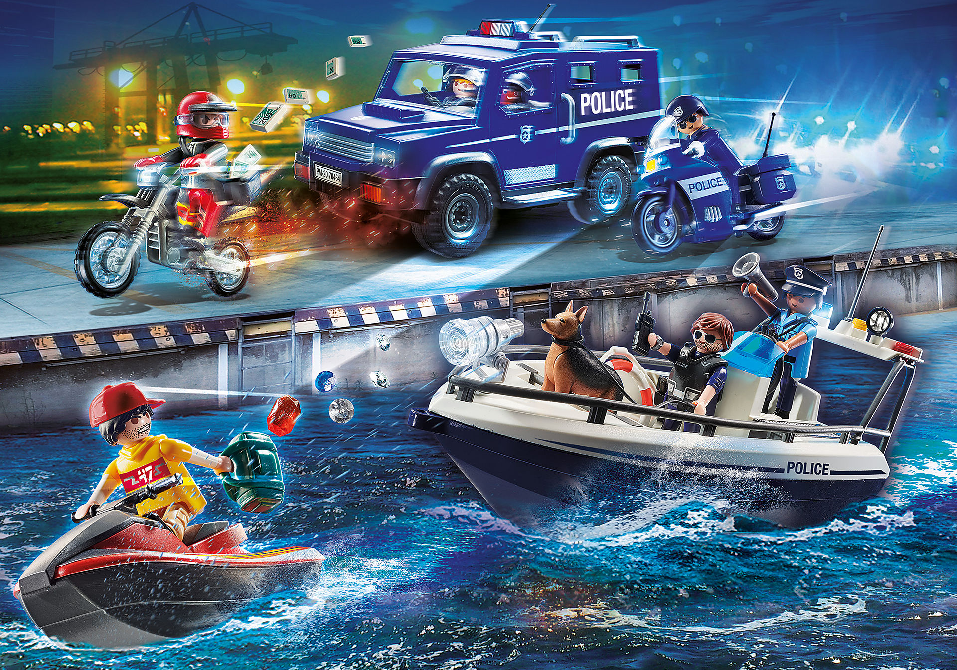 70463 Guarda Costeira e Ladrão em moto de água zoom image4