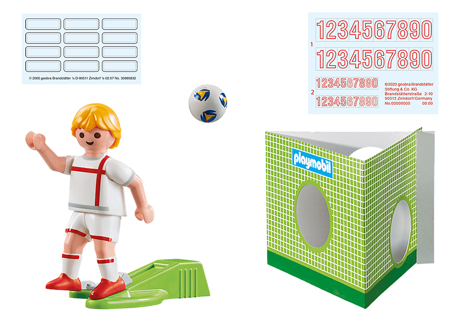 70484 Soccer Player England detail image 3