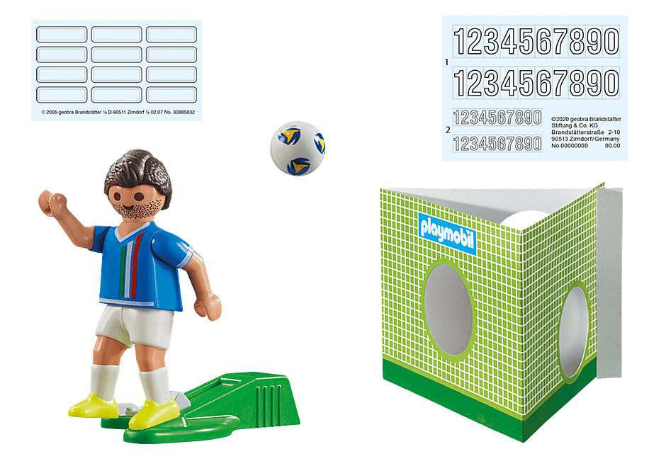 70485 Soccer Player Italy  detail image 3