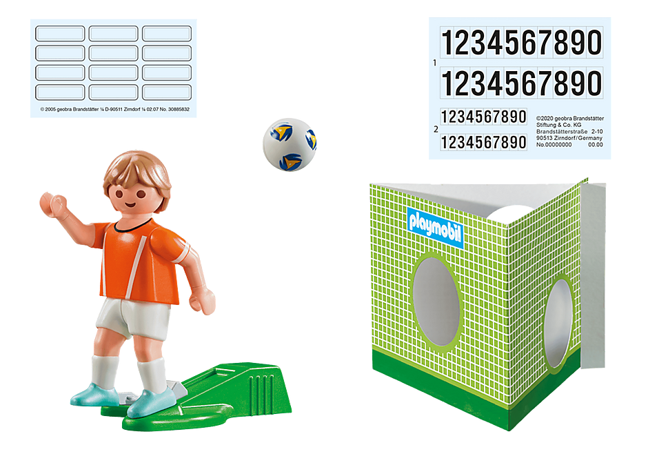 70487 Voetbalspeler Nederland detail image 3