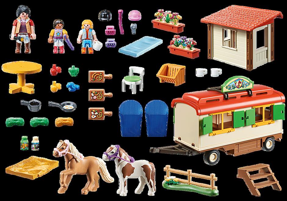 70510 Box de poneys et roulotte  detail image 3
