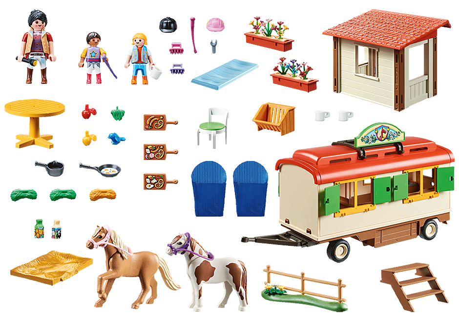 70510 Ranch dei Pony con roulotte detail image 3