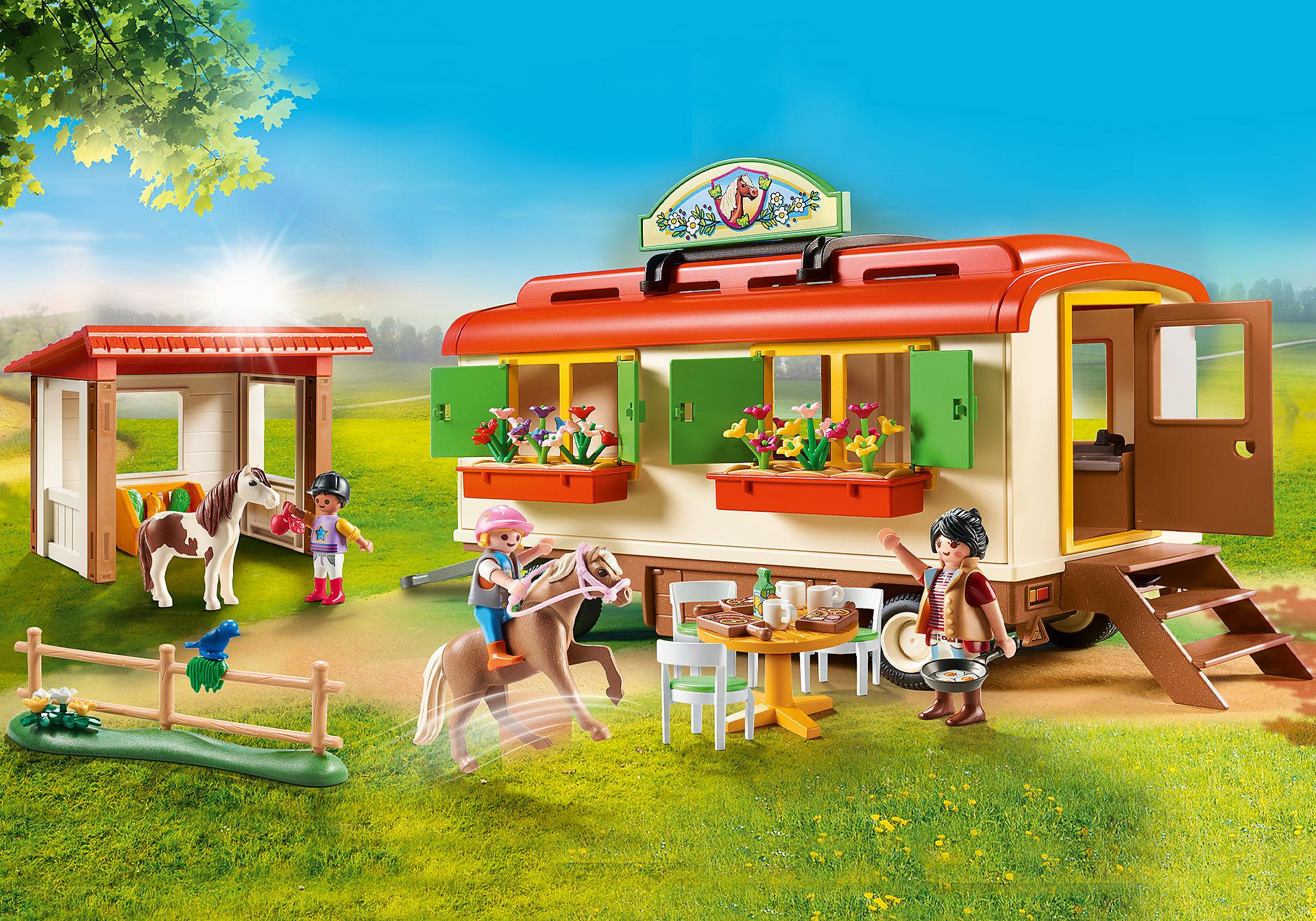 70510 Box de poneys et roulotte  zoom image1