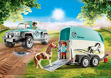 70511 Car with pony trailer