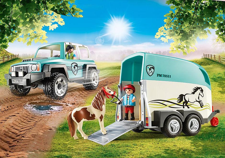 70511 Lastbil med ponyanhænger detail image 1
