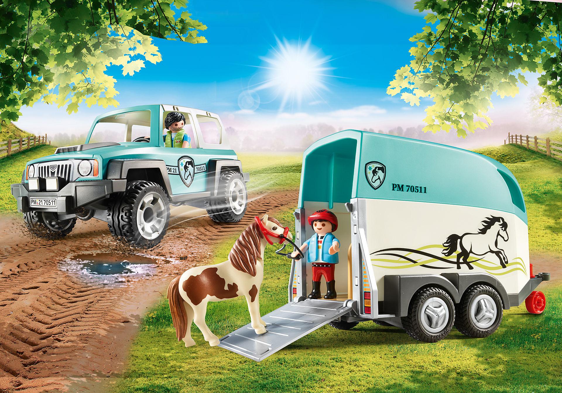 70511 Voiture et van pour poney  zoom image1
