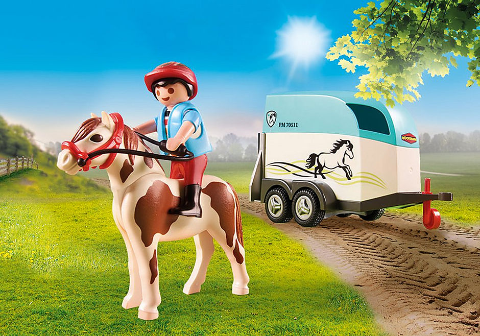 70511 Car with Pony Trailer detail image 4
