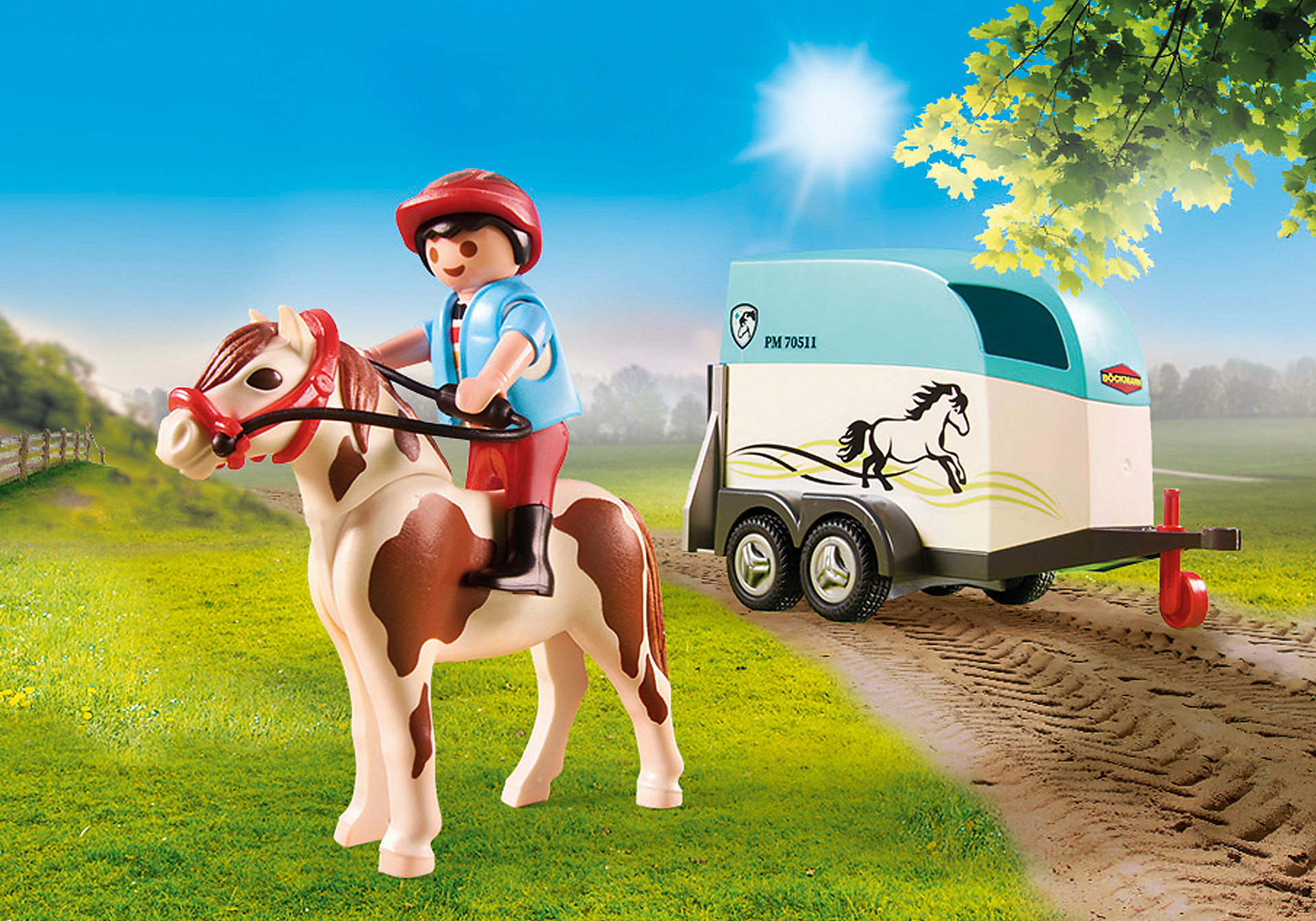 70511 Car with Pony Trailer zoom image4
