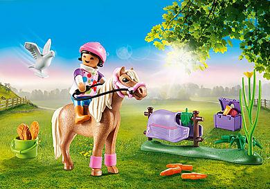 70514 Cavalière et poney islandais
