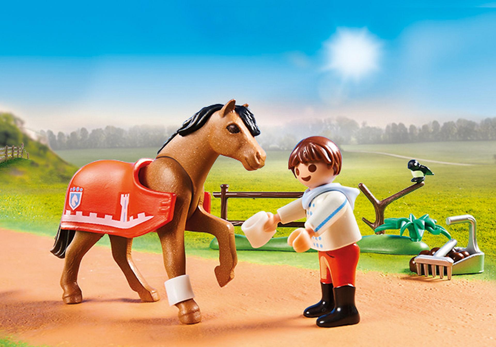 70516 Cavalier et poney Connemara zoom image4