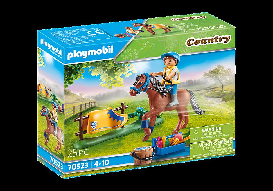 70523 Cavalier avec poney brun detail image 2
