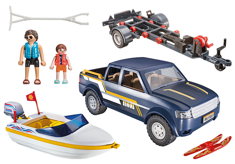 70534 Pick-Up with Speedboat detail image 3