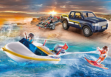 70534 Pick-Up with Speedboat