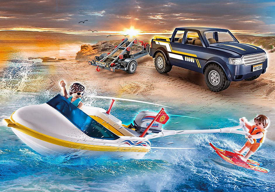 70534 Pick-Up with Speedboat detail image 1