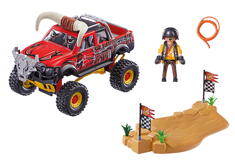 70549 Stuntshow Monster Truck met hoorns detail image 3