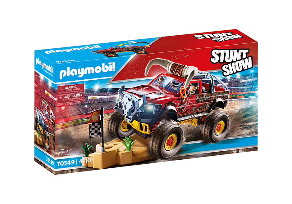 70549 Stuntshow Monster Truck met hoorns detail image 2