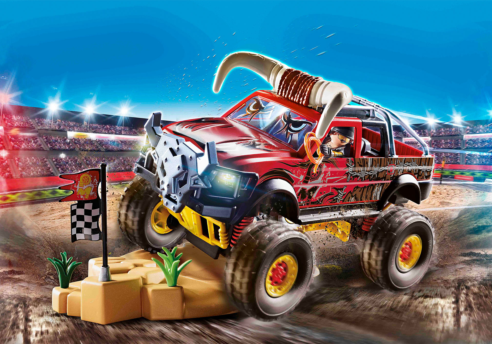 70549 Stuntshow Monster Truck med horn zoom image1