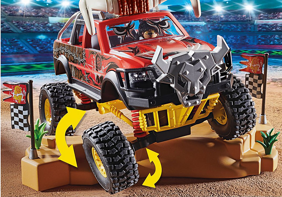 70549 Stuntshow Monster Truck met hoorns detail image 4