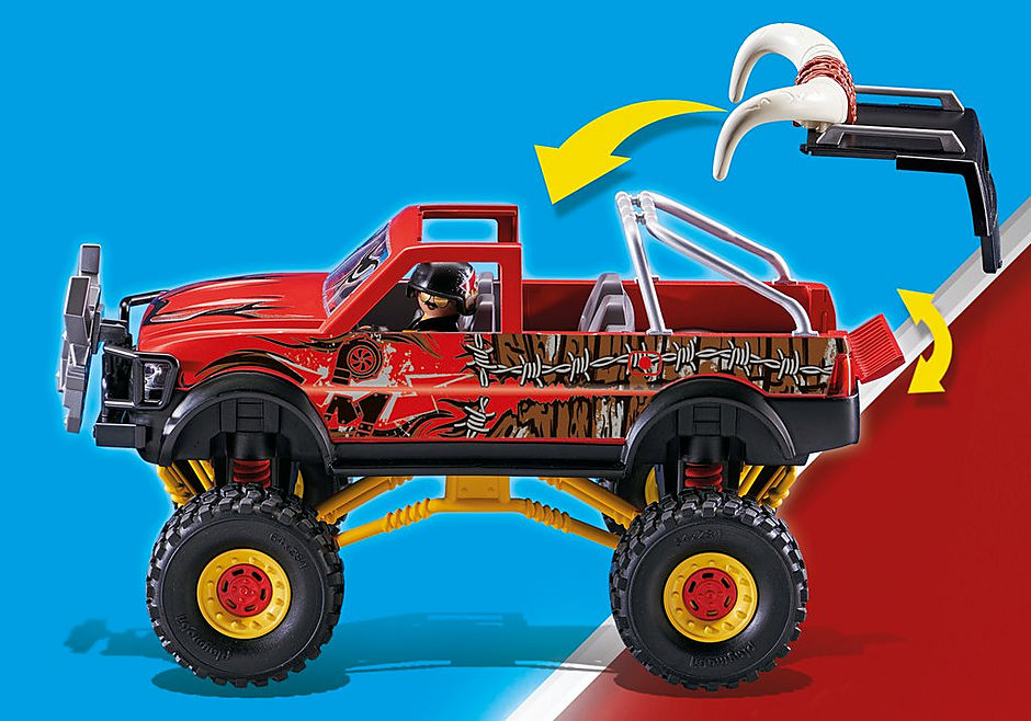 70549 Stuntshow monstertruck med horn detail image 6