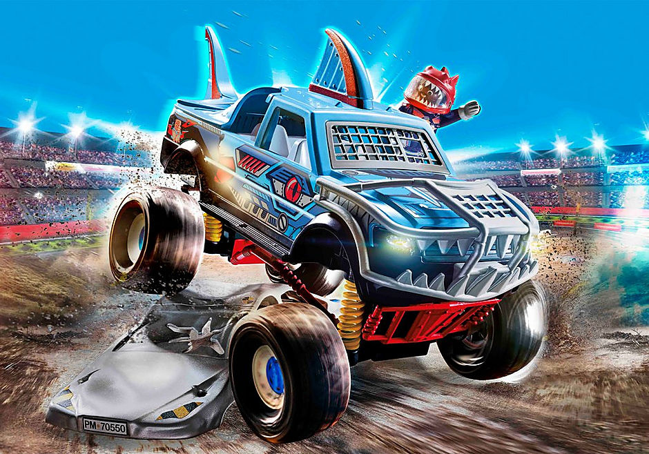 70550 Stuntshow Monster truck de cascade detail image 1