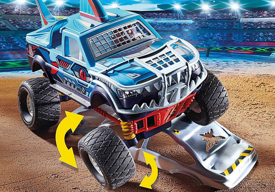 70550 Stuntshow Monster truck de cascade detail image 4
