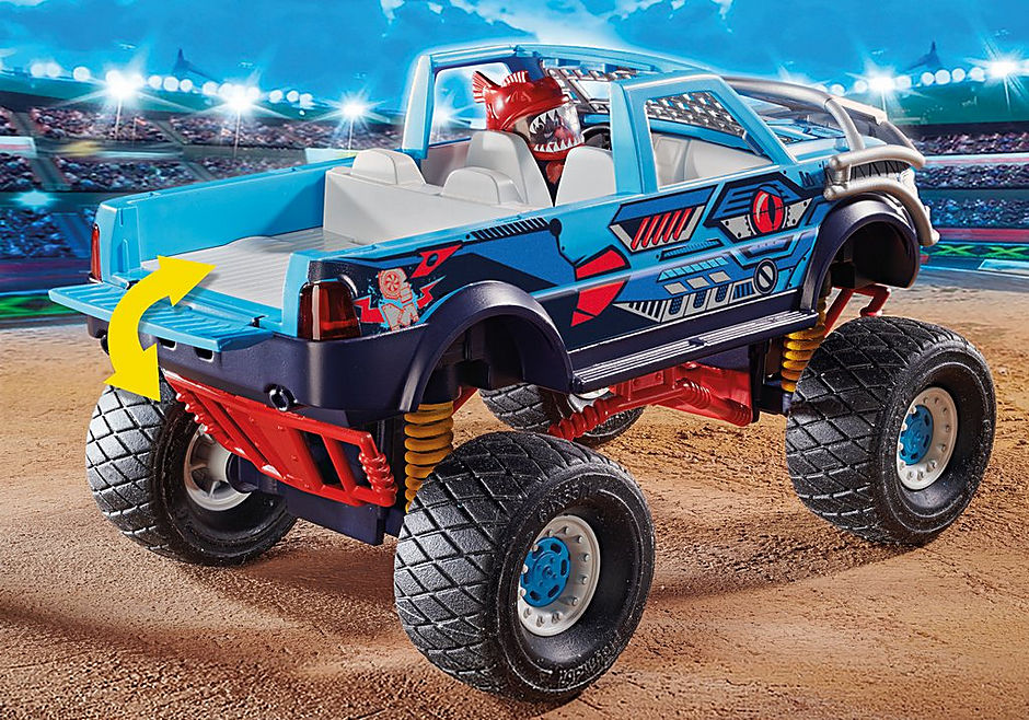 70550 Stuntshow Monster truck de cascade Requin  detail image 5