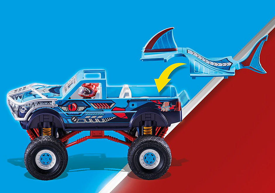 70550 Pokaz kaskaderski: Monster Truck Rekin detail image 6