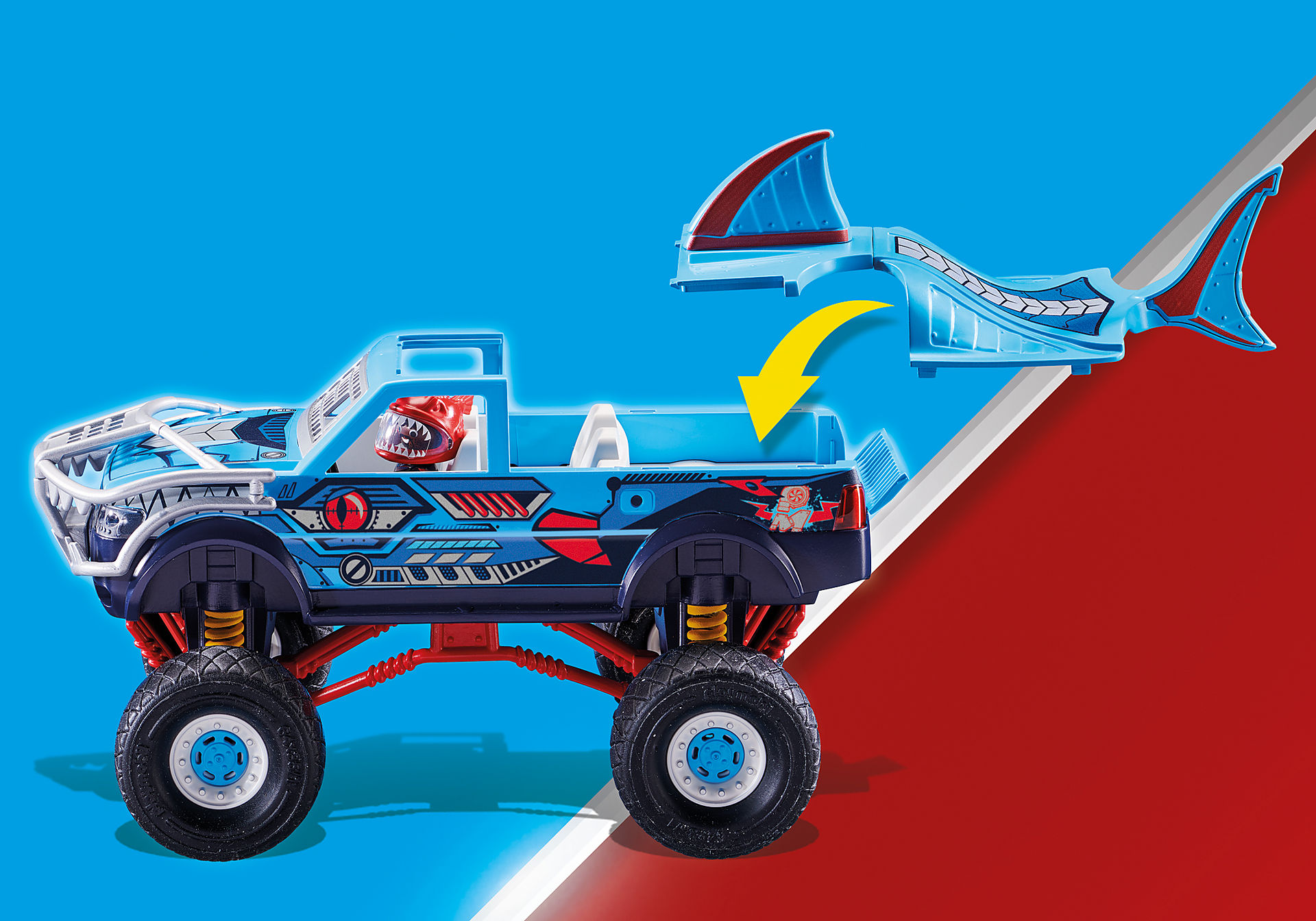 70550 Stunt Show Shark Monster Truck zoom image6