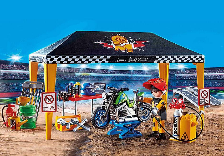 70552 Stuntshow werkplek tent detail image 1