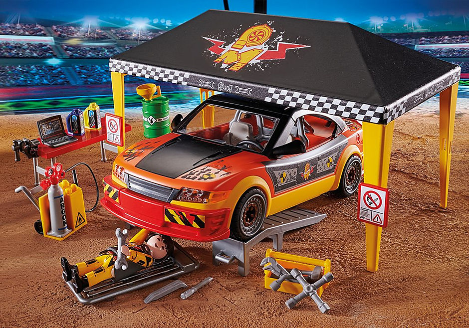 70552 Stuntshow Werkstattzelt detail image 5
