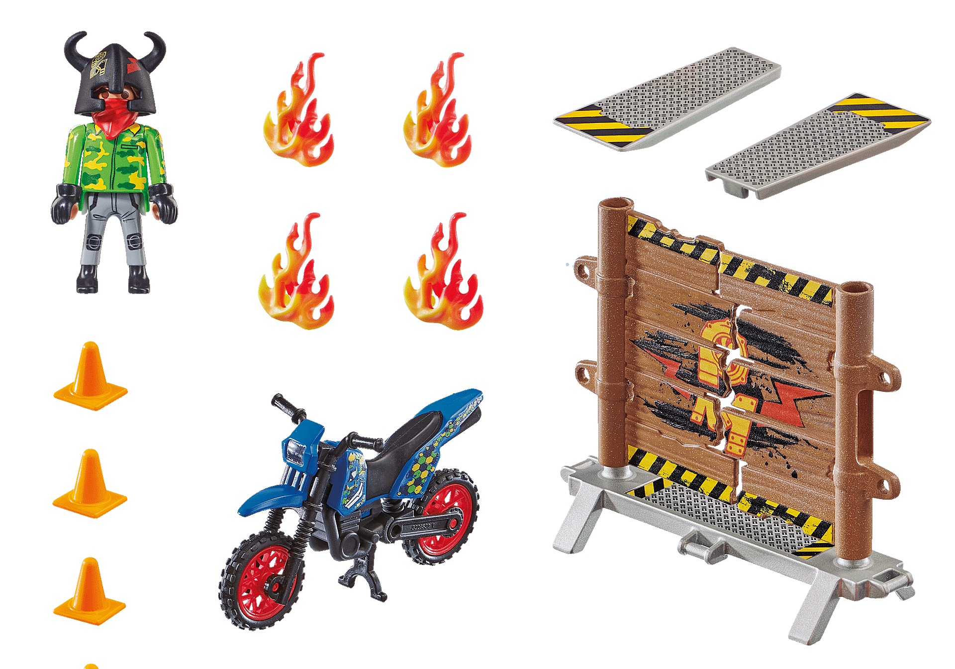 70553 Stunt Show Motocross with Fiery Wall zoom image3