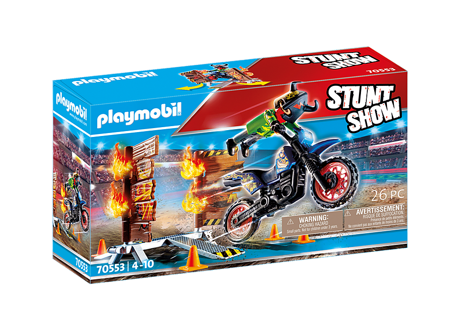 70553 Stuntshow Moottoripyörä ja tuliseinä detail image 2