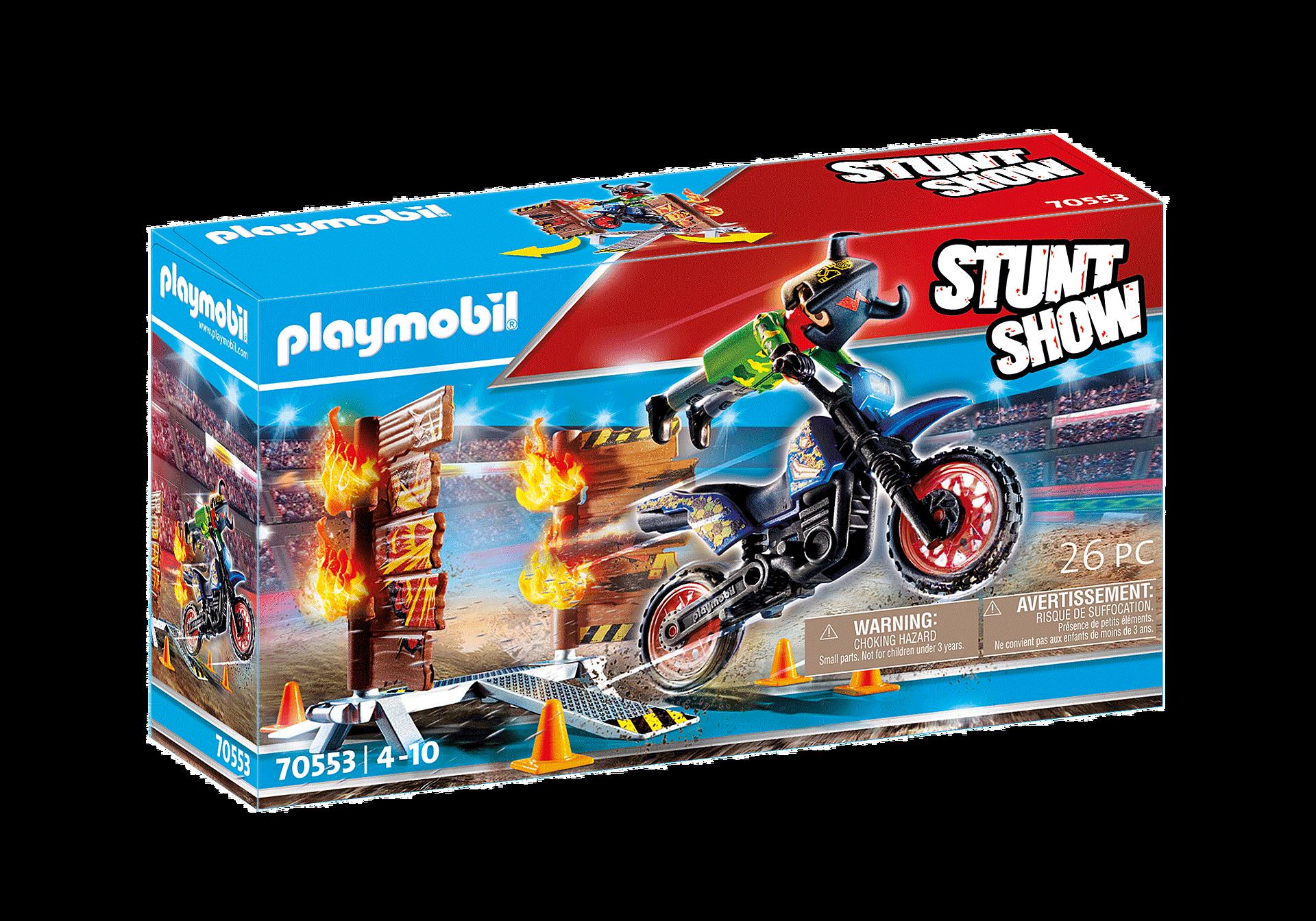 70553 Stuntshow Pilote de moto et mur de feu zoom image2