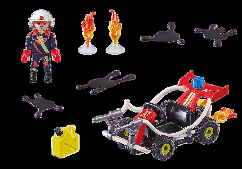 70554 Stunt Show Fire Quad detail image 3