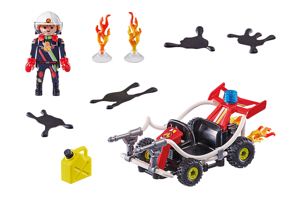 70554 Stuntshow Brandweerkart detail image 3
