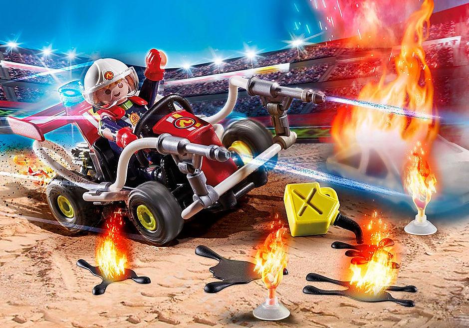 70554 Stuntshow Brandweerkart detail image 1