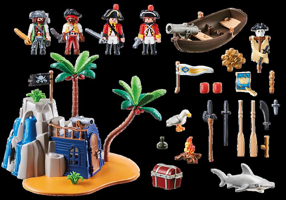 70556 Pirateneiland met schuilplaats voor schatten detail image 3