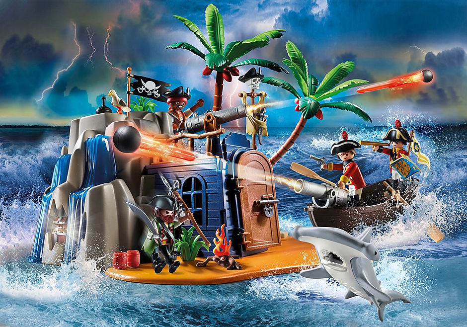 70556 Pirateneiland met schuilplaats voor schatten detail image 1