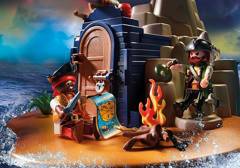 70556 Pirateneiland met schuilplaats voor schatten detail image 4