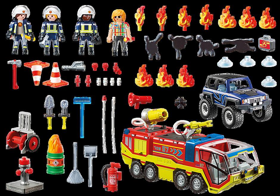 70557 Camion de pompiers et véhicule enflammé  detail image 3