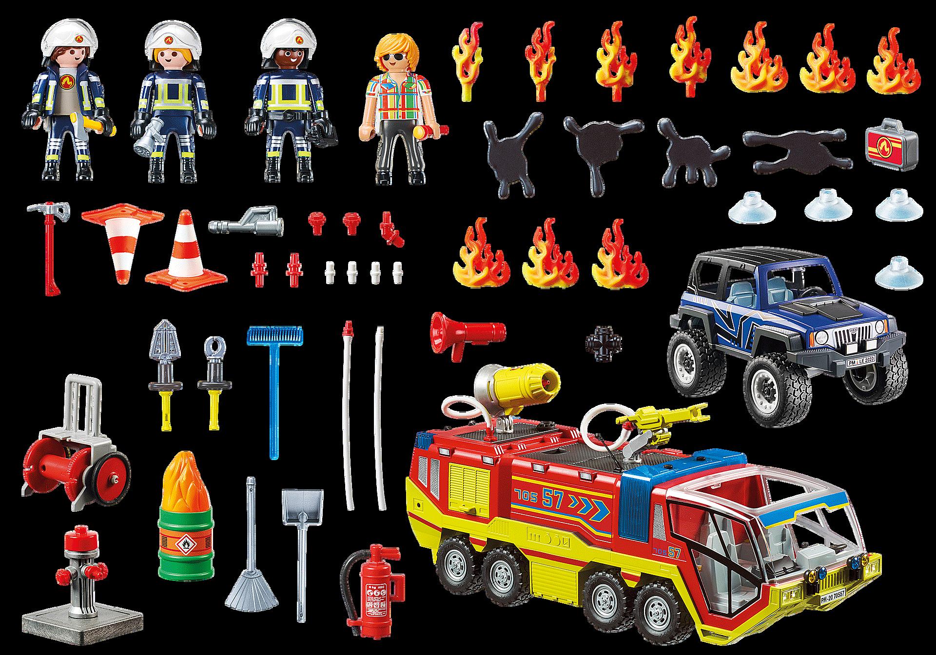 70557 Camion de pompiers et véhicule enflammé zoom image3