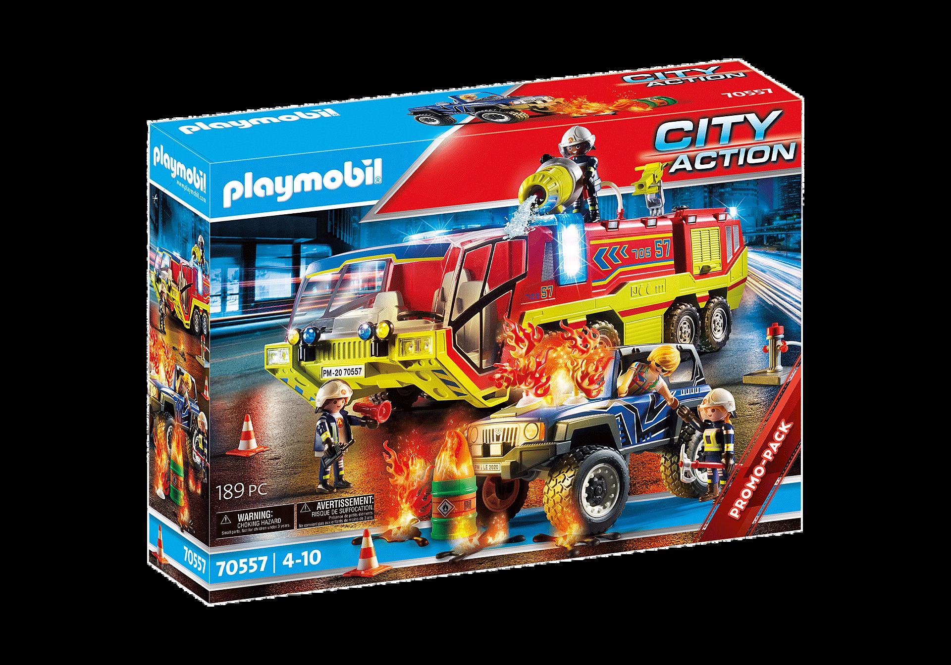 70557 Brandweer met brandweerwagen zoom image2